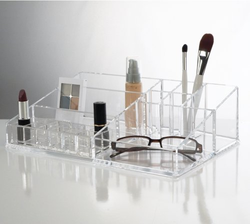 Us Acrylic® Cosmetic Organizer With Removable Lipstick Holder front-205487