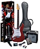 RST CAR LH Left Handed Electric Guitar Package with Full Size Electric Guitar, Amp, Carry Bag, and Instructional DVD