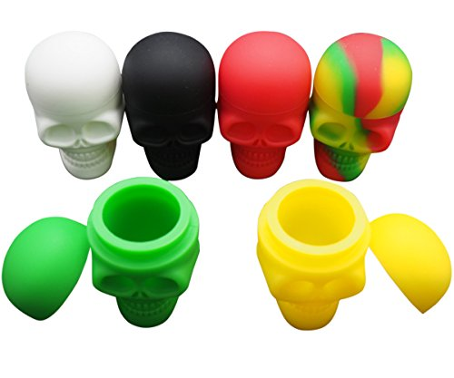 Gentcy 6pcs Skull Silicone Container Wax Dab Silicone Jar Platinum Cured US$ 2.35/pcs
