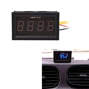 vktech mini horloge horloge led num rique pour voiture. Black Bedroom Furniture Sets. Home Design Ideas