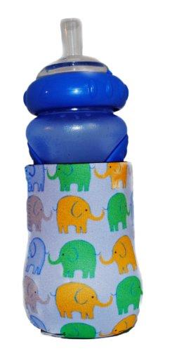 Kidzies Huggerz, Child'S Drink Sippy Cup Bottle Insulator, Elephants Design front-665633