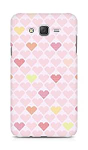 Amez designer printed 3d premium high quality back case cover for Samsung Galaxy J7 (hearts squares)