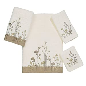 Avanti Linens Avanti Premier Floral Fields 4-Piece Towel Set, Ivory at Sears.com