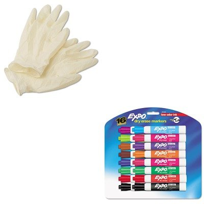 KITAHP69318XLSAN81045 - Value Kit - Conform XT Premium Latex Disposable Gloves (AHP69318XL) and Expo Low Odor Dry Erase Markers (SAN81045) kitbwkk5000rcp750411 value kit rubbermaid autofoam touch free skin care system rcp750411 and boardwalk premium half fold toilet seat covers bwkk5000