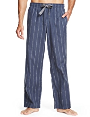 North Coast Pure Cotton Striped Pyjama Bottoms