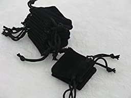 100pcs 4.0x4.0cm Black Velvet Bags, Jewelry Pouches, Wedding Favors, Jewelry Packing, Gift Bags