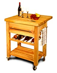 Catskill Craftsmen Baby Grand Workcenter with Drop Leaf and Wine Rack by Catskill+Craftsmen