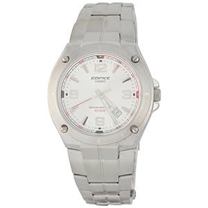 Casio Men's EF-126D-7AV Edifice Silver Stainless-Steel Quartz Silver Dial Watch