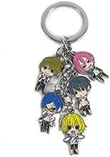 Free Iwatobi Swim Club Anime Characters Key Chain Pendant keyring Charm