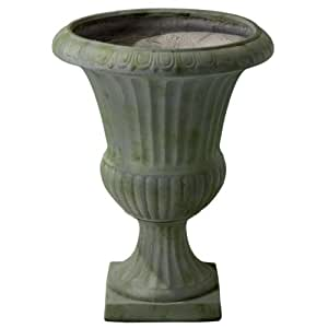 Best Selling Naples Moss Urn Planter, 22.5-Inch, Grey with Green