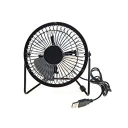 Generic Black Iron Mini USB Powered Super Mute Summer Cool Cooling Fan