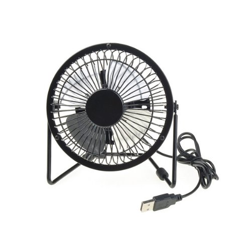 Black Electric Portable Office desk USB Mini Fan Cooler