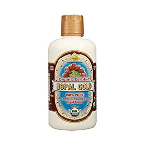 Dynamic Health Laboratories Organic Certified Nopal Gold-100 Percent Pure Nopal Juice 32 oz ( Multi-Pack)