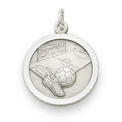 .925 Sterling Silver Soccer Player or Mom Medal