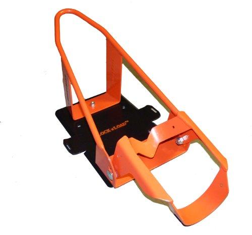 Lock 'N Load (BK100) Orange/Black Deluxe Motorcycle Wheel Chock (Small Wheel Chock compare prices)