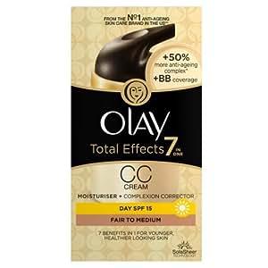 Olay Total Effects 7in1 CC Cream Moisturiser Fair To Medium, 50ml