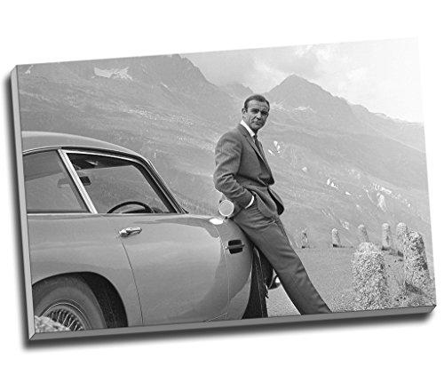 sean-connery-007-james-bond-aston-martin-db5-impression-sur-toile-art-mural-tableau-toile-30-x-taill