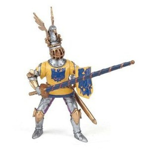 Papo Blue Knight Godefroy at Tournament Figure