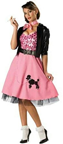 Coslove 50's Bad Girl Sexy Poodle Skirt Deluxe Adult Costume Size Small