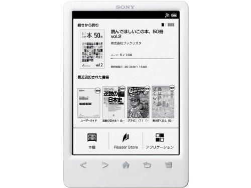 Sony e-book reader 6 Reader type Wi-Fi model white PRS-T3S/W