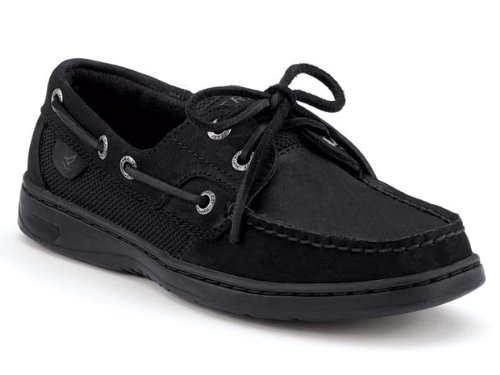Bluefish 2-Eye Boat Shoe - Women BLACK 8
