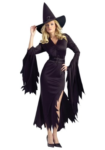 Funworld Womens Sexy Gothic Witch Halloween Theme Party Fancy Costume