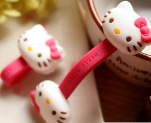 Hello Kitty - Foldable Headphone Cable Wire Cord Holder Organizer Amazing In Thailand