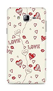 Amez designer printed 3d premium high quality back case cover for Samsung Galaxy ON7 (Love And Kiss)