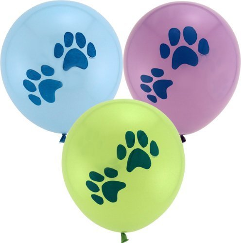6-count-Puppy-Dog-Paw-Print-Party-Balloons