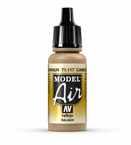 Vallejo Camouflage Brown Paint, 17ml