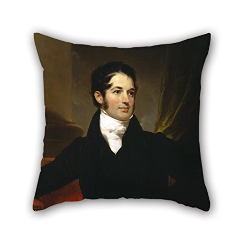 Artistdecor 16 X 16 Inches / 40 By 40 Cm Oil Painting Thomas Sully - Portrait Of James Cornell Biddle Cushion Covers ,2 Sides Ornament And Gift To Outdoor,wife,family,adults,lounge,dining Room (Fitted Sheet Split King Power Bed compare prices)