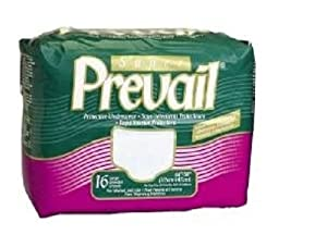 Prevail Protective Underwear with Extra and Super Absorbency-Adjustable, Small/Medium,72/Case by Prevail