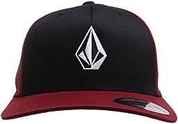 Volcom Men\'s Full Stone Xfit Hat, Port, Small/Medium