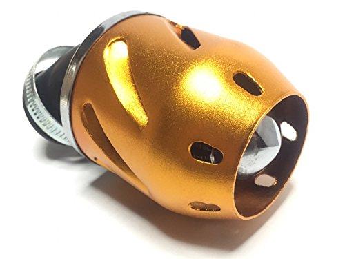 (nakira) 出力増加 カスタム パワーフィルター 35mm 汎用 エアフィルター (ゴールド)