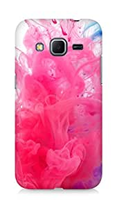 Amez designer printed 3d premium high quality back case cover for Samsung Galaxy Core Prime (Holi water india public holiday paint underwater red blue)