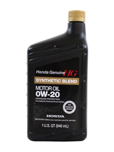 genuine honda fluid 08798 9036 0w 20 blended synthetic