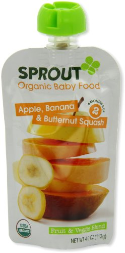Sprout Intermediate Organic Baby Food Apple Banana and Butternut Squash 4 0 Ounce Pack of 5