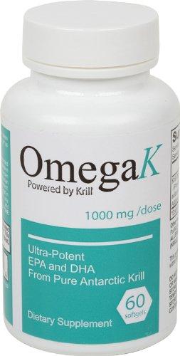 OmegaK Krill Oil 1000mg - Ultra Potent EPA et de