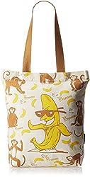 Kanvas Katha Fashion Women's Tote Bag (Ecru) (KKCAMZSS16011)