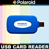 Polaroid Rubberized High Speed 72 In 1 Reader / Writer For The Pentax Q, Q10, X-5, K-01, K-30, K-X, K-7, K-5, K-5 II, K-R, 645D, K20D, K200D, K2000, K10D, K2000, K1000, K100D Super, K110D, *ist D, *ist DL, *ist DS, *ist DS2 Digital SLR Cameras
