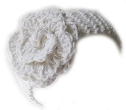 KSS Baby White Cotton Headband with Flower 14\