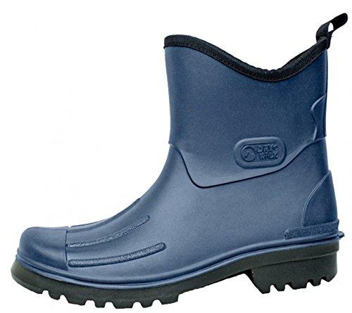 BOCKSTIEGEL - Peter - Herren Gummmistiefeletten PVC Stiefel - Schwarz Schuhe in Übergrößen, Größe:43 -