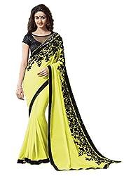 Offo Deals Partywear Traditional Lemon Green Women Saree ss-1807c