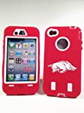 Arkansas Razorback Case for Iphone 4/4S - Armored Core Defender - Fast Shipping from USA - Special Christmas Sale!