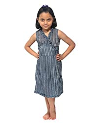 Needlecrest Baby Girls Frock (Navy Blue)
