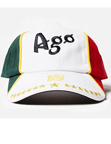 Giacomo Agostini Cap Vintage, Colore: Verde, Bianco, Rosso, Taglia Unica