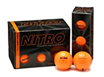 Nitro Tour Distance Golf Balls (Pack of 12, Orange)