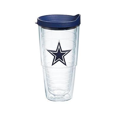 Tervis NFL Dallas Cowboys Logo Emblem Tumbler with Navy Travel Lid, 24 oz, Clear