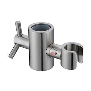 kes solid brass replacement 25mm hand held shower bracket for slider height angle adjustable. Black Bedroom Furniture Sets. Home Design Ideas