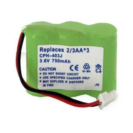 Replacement Battery For 1X3-2/3AA/J CONNECTOR - NiMH 3.6V 750 mAh JB950